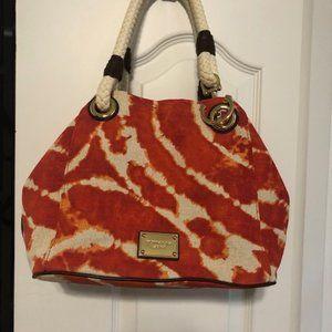 Michael Kors Orange Blaze Tapestry Handbag